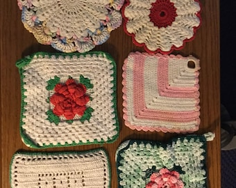 Vintage Crocheted Pot Holders