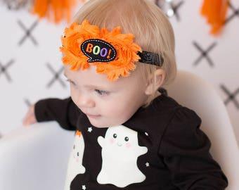 Halloween Headband, Halloween Hair Bow, BOO Headband, Halloween Bow, First Halloween Headband, Baby Halloween Headband, Halloween Headband