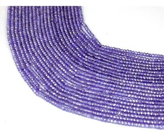 1 Strands Amethyst Cubic Zirconia 3mm Rondelle Faceted CZ Beads Strand,Purple Amethyst CZ Beads,Purple CZ Beads,Jewelry Beads,