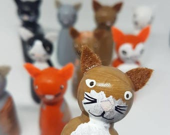 Cat Peg Dolls