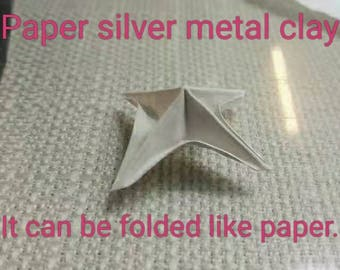 silver clay paper
