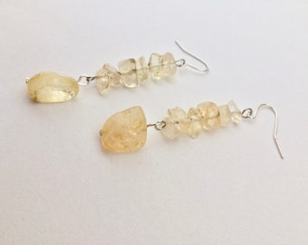 Citrine Earrings, Citrine Jewelry, Gemstone Earrings, Statement Earrings, Dangle Earrings, Long Earrings, Crystal Earrings, Boho Earrings