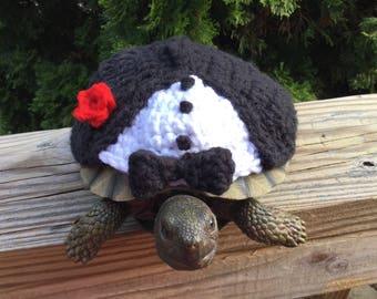 Black Tie  Formal Tuxedo Turtle Topper Tortoise Cozy