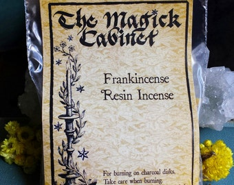 Frankincense Incense, Witchcraft Supply, Wicca Supplies, Witch Incense, Ethiopian Incense, Smudging, Rituals, All Natural