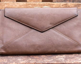 Gary's Leather Clutch Wallet Vintage