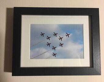Framed Red Arrows Print