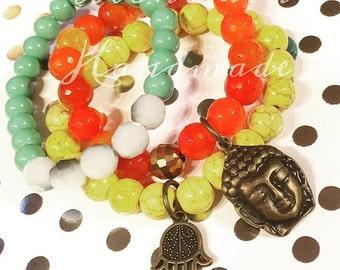 Jolly Color Gemstone  Handmade Bracelets
