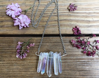 Angel Aura Quartz Necklace