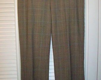 W 34 / L 33 Vintage 1940s Pendleton Wool Trapper Pants Glen Plaid Check Heavy Wool Winter Pants Hunter Ourdoorsman Men's Pants HgvK4OV