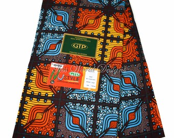 High quality GTP/ African fabric by the yard/ African print fabric/ Ankara clothing/ Fabric from Ghana/Bright colors WP1166B