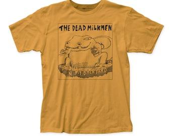 Dead Milkmen Big Lizard Men's Soft Fitted 30/1 Cotton Tee (DM11) Ginger