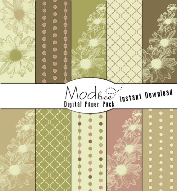Mod Floral And Geometric Pink