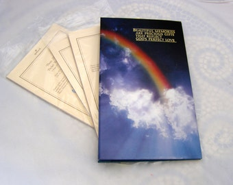 Religious Photo Album, Rainbow Cover Photo Holder, Gay Wedding Album, Vintage Hallmark Pocket Page, Beautiful  Memories
