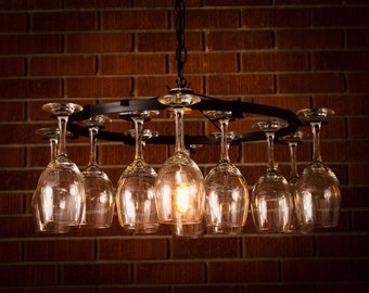Wine glass bottle chandelier wine rack light lighting wine wine glass chandelier wine rack light lighting wine decor chain style aloadofball Images