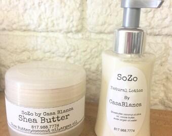 Shea butter cream & shea butter lotion unscented 20.00