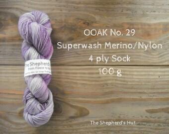Superwash Merino/Nylon 75/25 Sock yarn 100 g OOAK No. 29