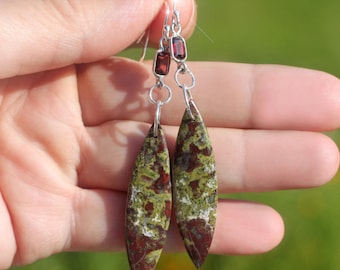 Autumn Symphony - Beautiful Dragon's Blood Jasper Jasper Sterling Silver Earrings