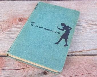Vintage 1934 'Nancy Drew The Clue of The Broken Locket', Carolyn Keene