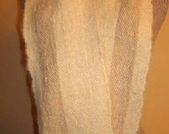 Gold winter scarf.  Soft as butter with a golden glow.