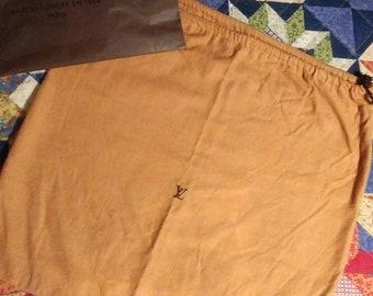 Authentic LV Drawstring Dust Bag