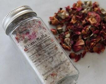 Geranium Rose and Lavender Bath Soak with Organic Gray Sea Salt