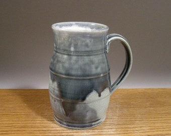 Big ol' Handmade Tankard Style 28 ounce Pottery Mug , Stein,  Coffee Mug , Beer Mug , Tea Mug , Ceramic Cup