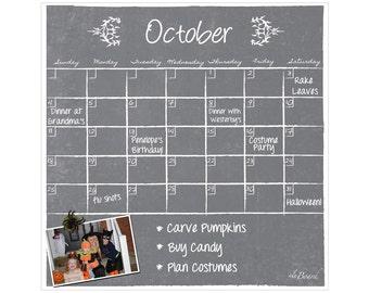 Fridge Calendar, Refrigerator Calendar, Fridge Magnet Calendar