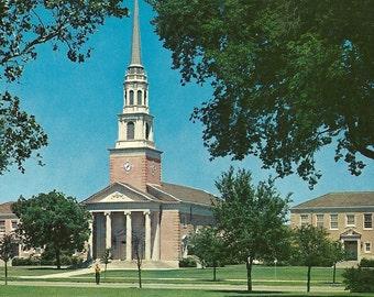 Vintage 1960s Postcard Texas Christian University New Religion Center Horned Frogs Athletics College Church Photochrome Era Postally Unused