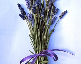 Deluxe Lavender Glass Bead Bouquet Set of 20 with Dried Lavender Sachet Buds