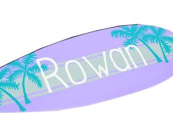 Surfboard Decor, Surf Board Sign, Custom Surfboard Wall Art, Personalized Beach Sign