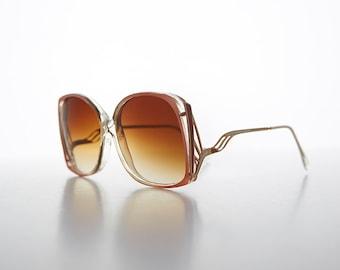 70s Gold Swan Arm Oversized True Vintage Boho Sunglasses NOS -GIDGETT