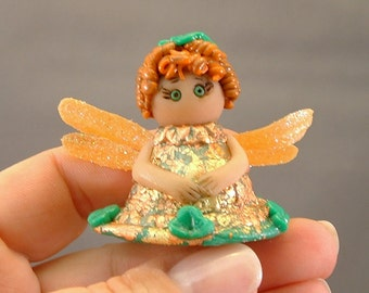 OOAK Pixie Fairy Fantasy Miniature Polymer Clay Art Doll Miniature