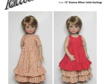 STRAIGHTFORWARD Sewing Pattern SSP-055: Pinafore outfit for Dianna Effner Little Darlings. Fits Ellowyne, Wiggs Tobi, and Luts Kid Delf.