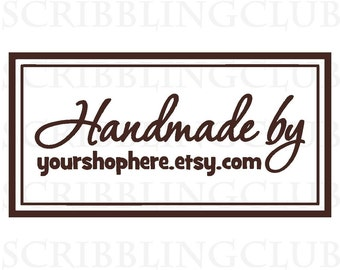 Clear Rubber Stamp for Handmade Products - Featuring Custom Business Name Tag- Stamp 9
