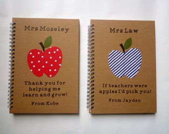 Teacher gift end of term teacher gift personalised teacher planner notebook notepad best teacher gift personalized teacher gift male teacher