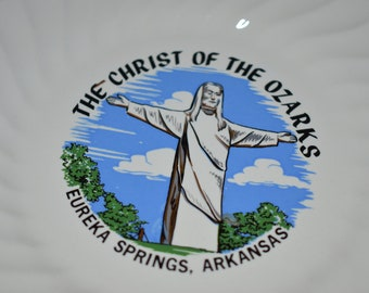 The Christ of the Ozarks Eureka Springs Arkansas Small Ceramic Plate/ Christ of the Ozarks Souvenir Ceramic Plate/ Eureka Springs Souvenir