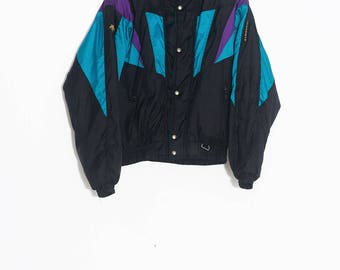 Winter retro ski coat | DESCENTE Ski Coat | Colorful winter jacket | Jacket 80's 90's winter | Colorful 80's