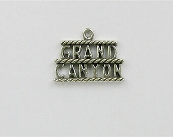 Sterling Silver Grand Canyon Sign Charm