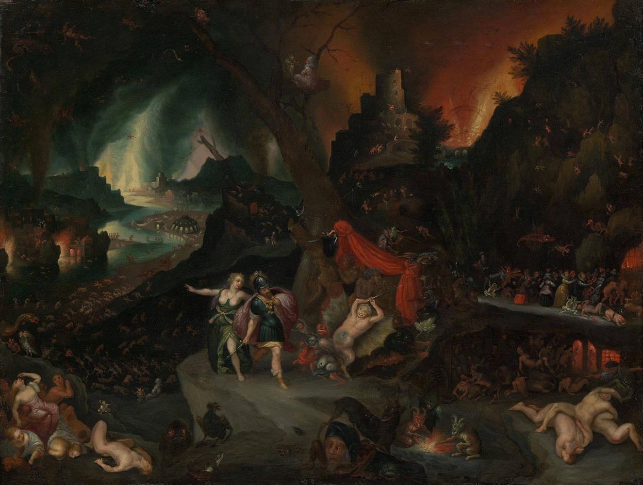 Jan Brueghel der jüngere: Aeneas und die Sibylle in der