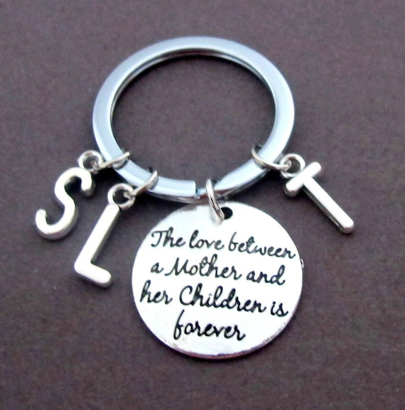 Mother's day gift,Gift for mother,kids Initials,The Love between a mother and her children is forever keychain,Mom gift, Free Shipping USA