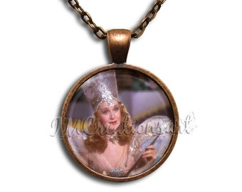 Wizard of Oz Glinda the Good Witch- Round Glass Dome Pendant or with Necklace by IMCreations -  WZ103