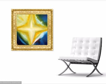 STAR - Original Abstract Art on Canvas - Modern Art - Fine Art Print - Star Art Print - Decorative Wall Art