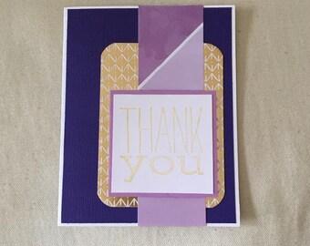 Thank You Card Purple