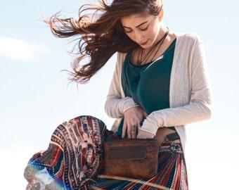 Fanny Pack, Leather Hip Bag, Hip Bag, Bum Bag, Waist Bag, Modern Fanny Pack, Stylish Fanny Pack, Traveler in Chestnut