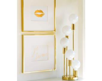 Legrand Legrand clinquant d'or Lip tirage 8 x 10, Home Decor, typographie, Art mural, Saint Valentin, mur Galerie