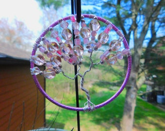 Tree of Life Suncatcher, Recycled Bangle Bracelet