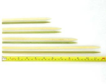 "Flat Bamboo Wood Skewers 5.9"" to 11.8"""