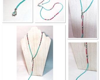 Y Necklace - Southwestern Beaded Necklace