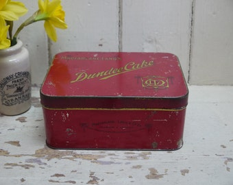 Vintage Cake Tin - Christmas Cake Tin - Vintage Tin - Pretty Tin - Storage Tin - Advertising Tin - Cake Tin - Dundee Cake Tin - Candy Tin