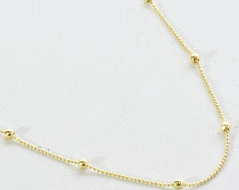 Gold Bead Anklet